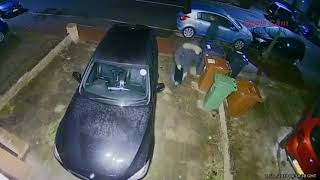 Gone in 50 seconds, car thieves steal BMW CCTV.  Keyless Car Theft