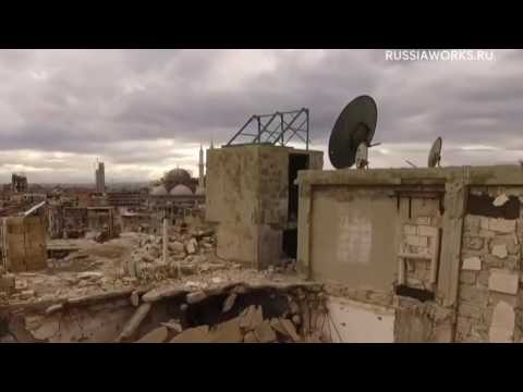 Syria   Aleppo   Drone footage shows scale of destruction 4k ® 〽️ ❌ Over 360