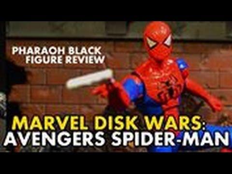 Marvel Disk Wars Avengers Spider Man figure review - YouTube