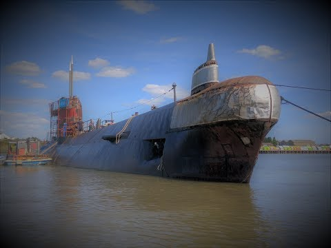 Soviet Submarine on the River Medway. Inside was a Surprise!
