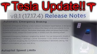 Tesla Update! 17.17.4. Almost to AP 1.0 level!