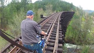 Extreme Railbiking Part 1, Life is Like a Mountain Railway, Rail Bikes on Abandoned Railroads.