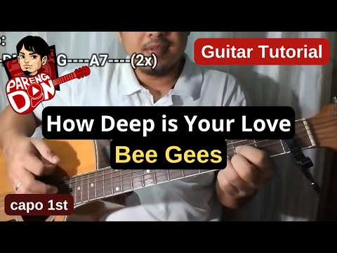 How Deep is Your Love Chords Guitar Tutorial (Bee Gees) easy for beginners