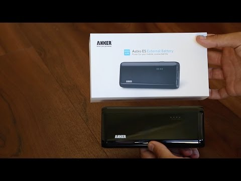Anker Astro E5 16000 mAh Battery unboxing