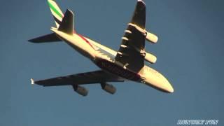 Emirates Airbus A380 861 Narita Airport Final approach Inashiki Curve