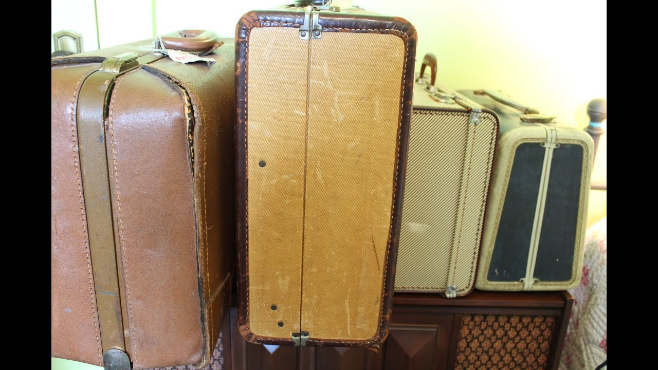 Vintage luggage suitcases youtube - Vintage suitcase ...