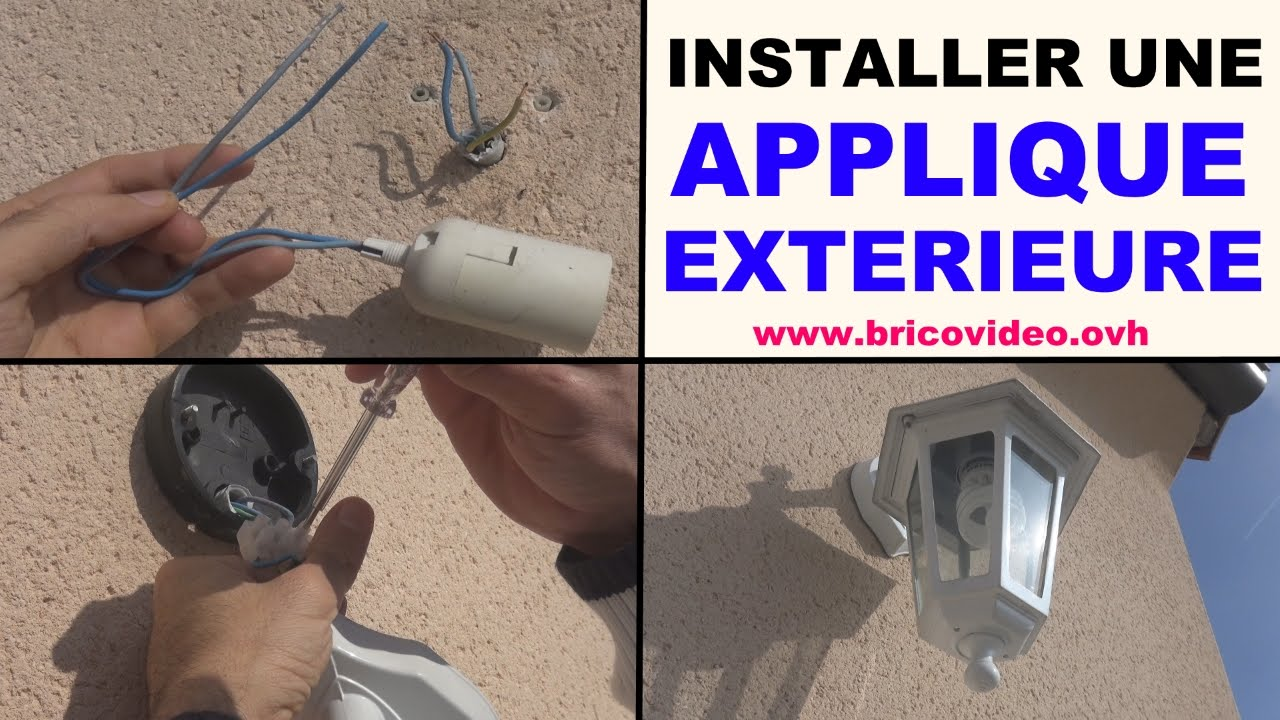 Installer applique mur exterieure youtube for Installer un lampadaire exterieur
