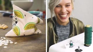 Nähen für Dummies feat DIY Eule: #1 Handwärmer   DIY   nähen lernen