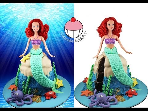 MERMAID CAKE Make a Princess Ariel Little Mermaid Cake A Cupcake