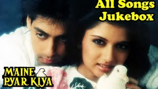 Download Maine Pyar Kiya - All Songs Jukebox - Salman Khan & Bhagyashree - Old Hindi Songs - Evergreen Hits MP3 song and Music Video