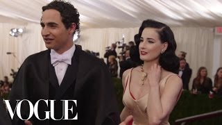 Zac Posen and Dita Von Teese at the 2014 Met Gala - The Dresses of Charles James - Vogue