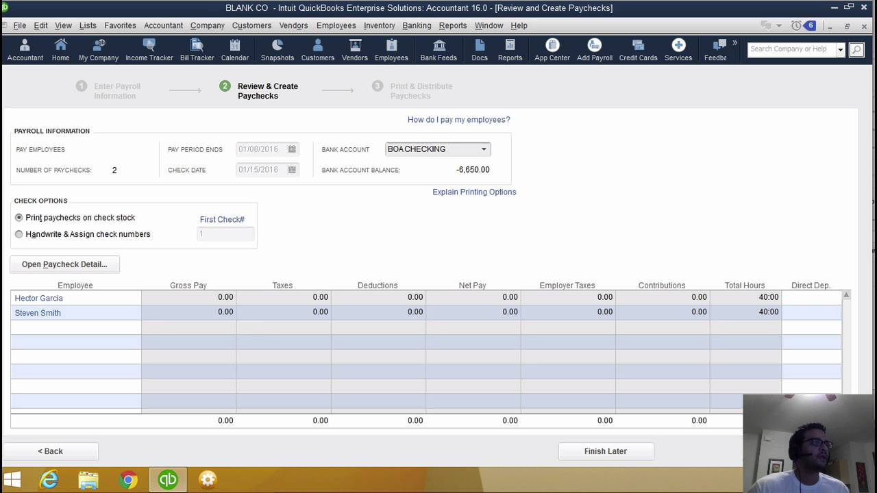 Using Manual Payroll in QuickBooks Desktop (US)