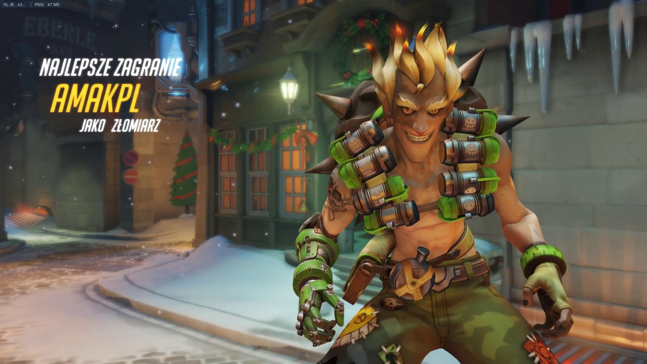 Overwatch Christmas mayem junkrat flawless victory - YouTube