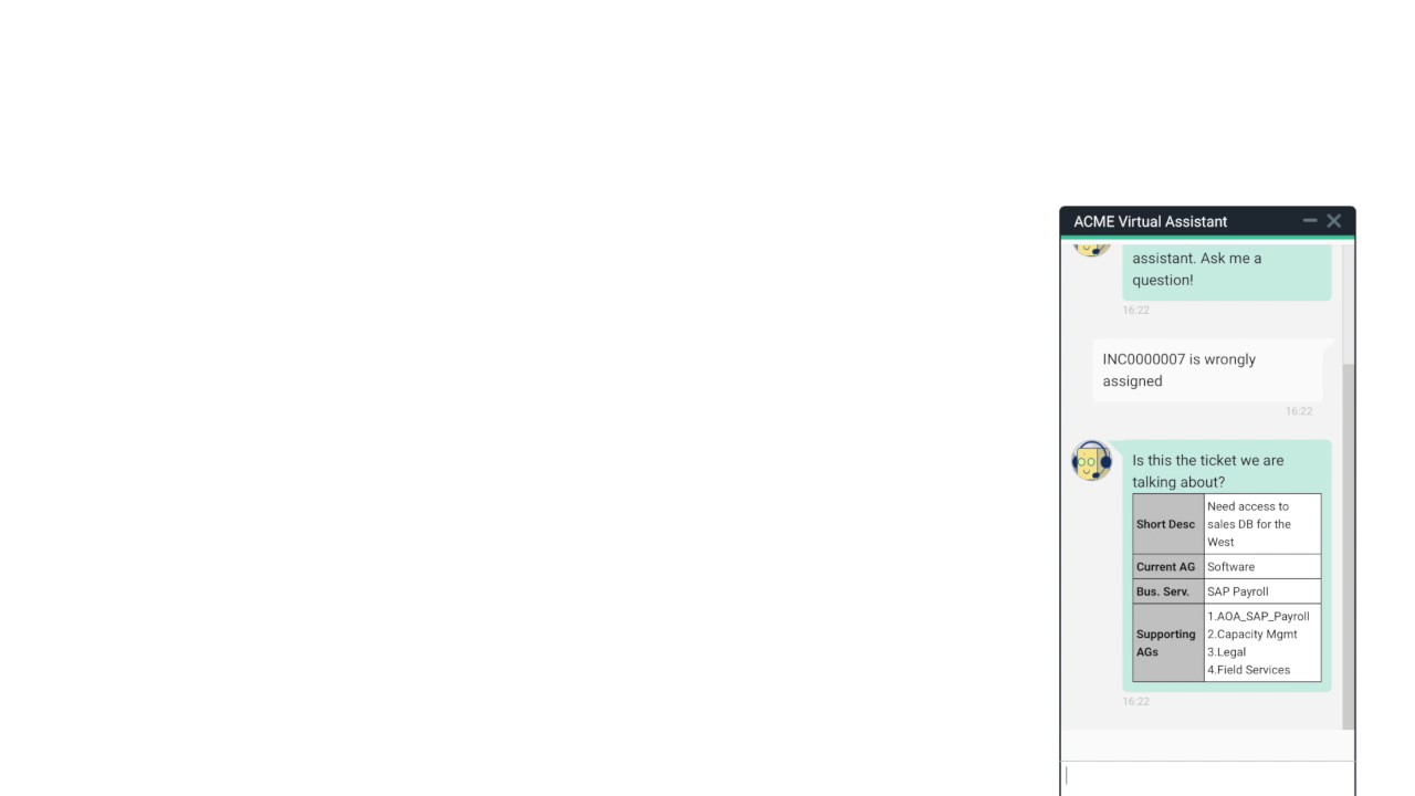 Demo of Chatbot on IBM Watson