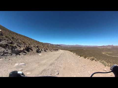 Downhill into Las Vicunas national reserve