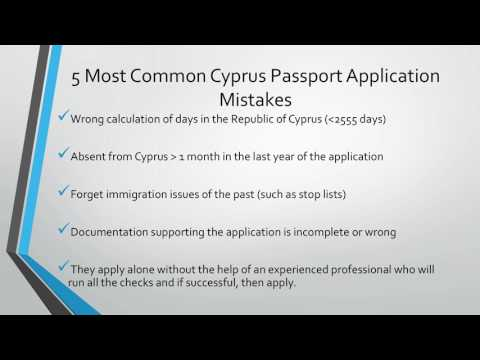 5 Most Common Cyprus Passport Application Mistakes