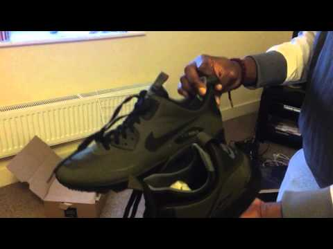8e30c69a028295 Nike Air Max 90 Mid Winter ( Dark Loden   Green ) - YouTube