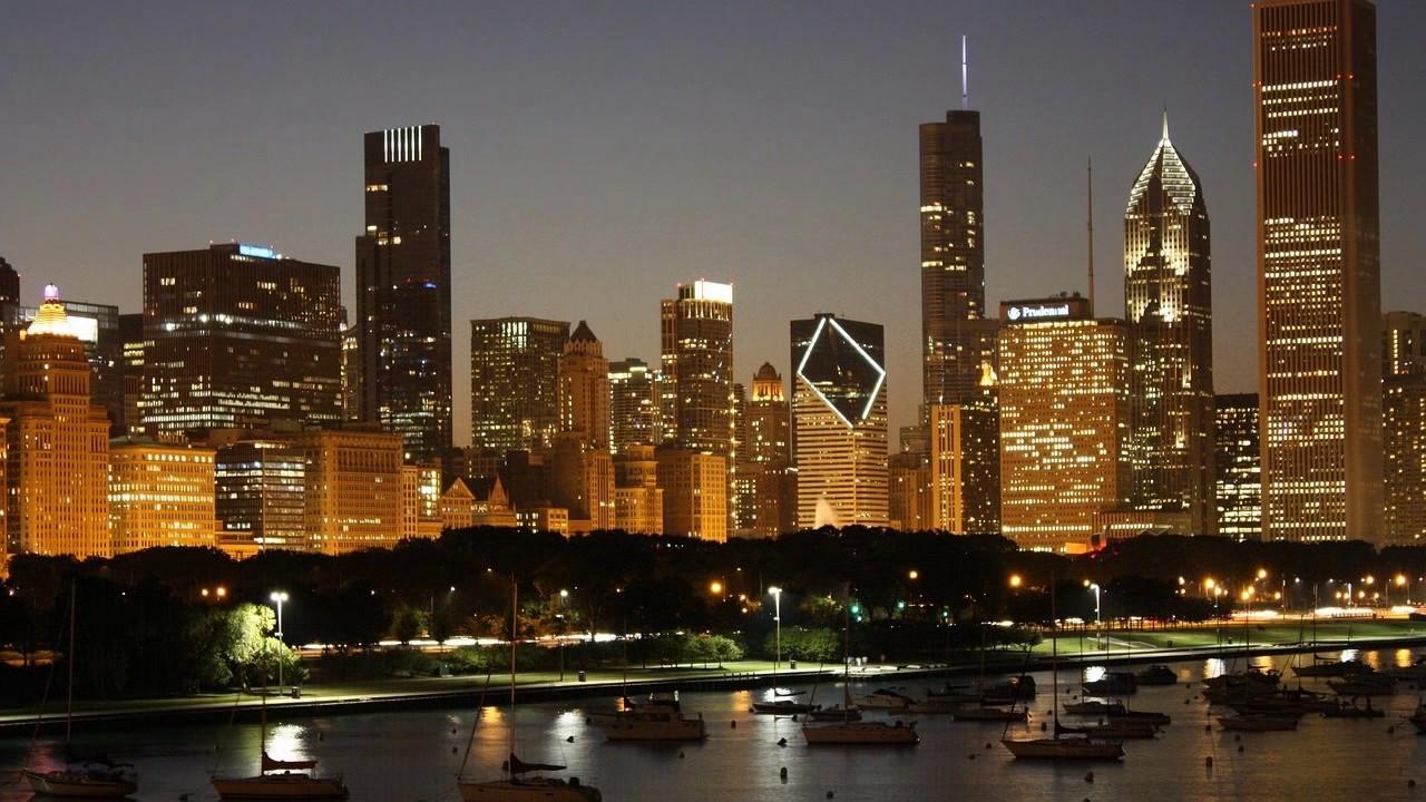 City Night View HD Wallpaper