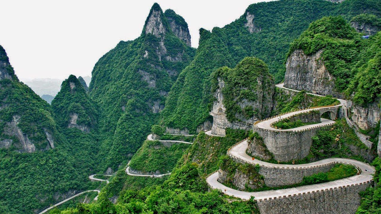 La puerta del cielo tianmen shan hunan china youtube for Puerta al cielo china