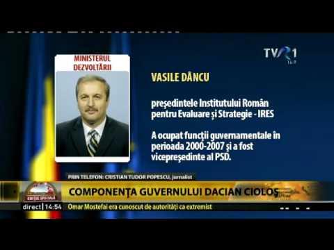 Reacţia lui Cristian Tudor Popescu după aflarea propunerilor pentru cabinetul Cioloş