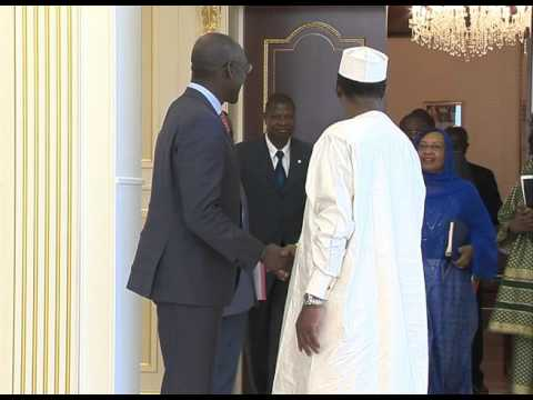 Makhtar Diop Met President Idriss Deby Itno