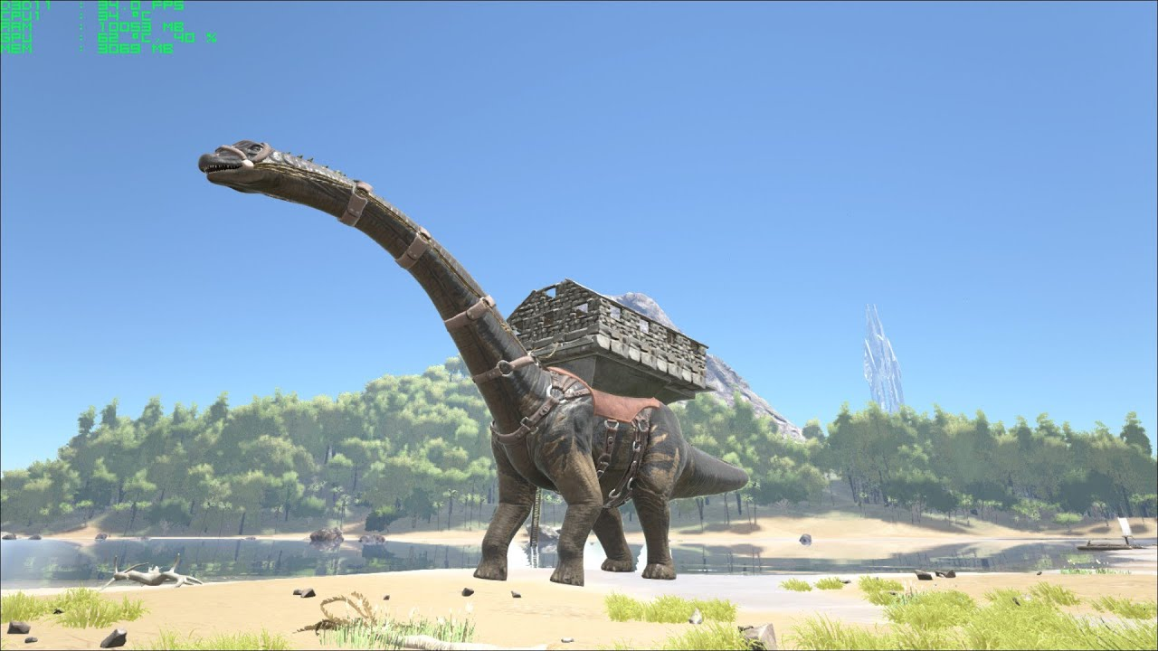 ARK SURVIVAL EVOLVED : bronto platform and taming a ...