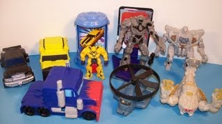 2007 TRANSFORMERS SET OF 8 BURGER KING KID'S MEAL MOVIE TOY'S VIDEO REVIEW