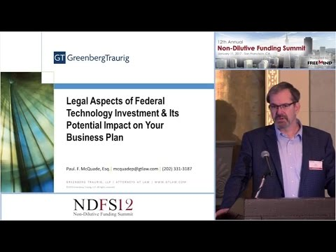 Greenberg Traurig Presentation - Legal Aspects of Federal Technology Investment...