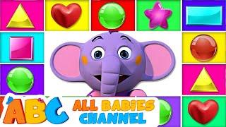 Shape Song | All Babies Channel Nursery Rhymes & Kids Songs