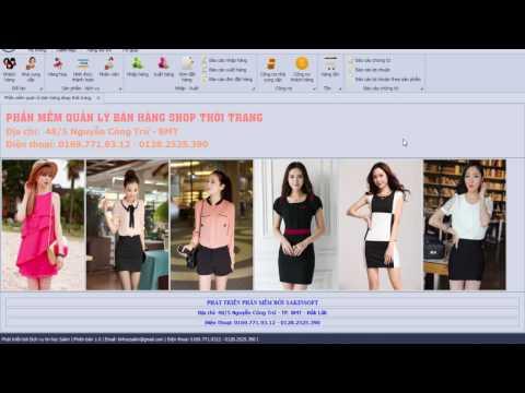 Phần mềm quản lý shop thời trang - phần mềm quản lý bán hàng quần áo - MIỄN PHÍ CÀI ĐẶT
