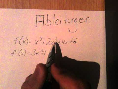 mathematik ableitungen berechnen so geht 39 s youtube. Black Bedroom Furniture Sets. Home Design Ideas