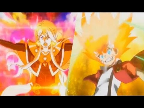 Aiga vs  Phi   Super Finale   Episode 50   Beyblade Burst Super Zetsu AMV