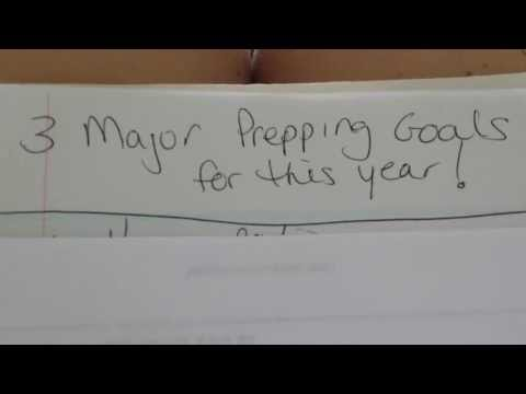 Here are my 3 Top Prepping Goals for this Year :)