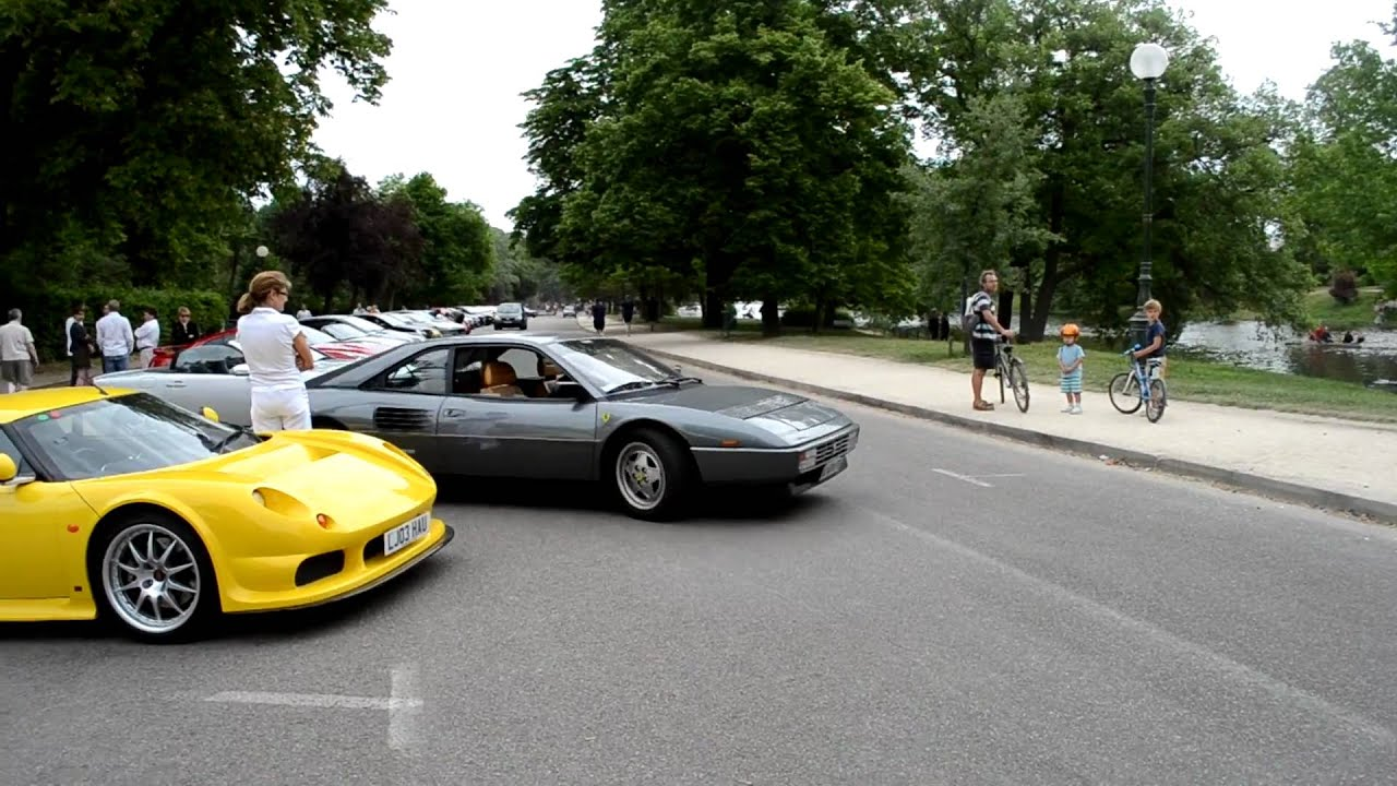 ferrari mondial t and mondial quattrovalvole sound cars and coffee paris france youtube. Black Bedroom Furniture Sets. Home Design Ideas