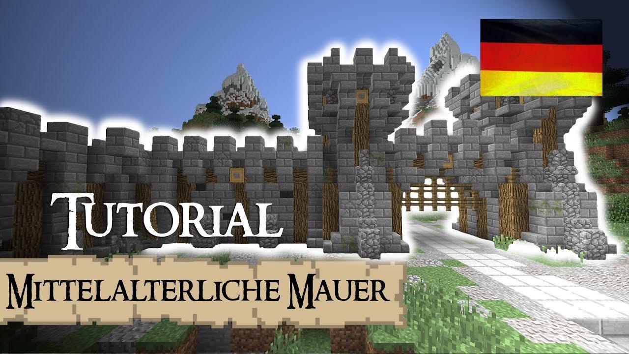 Minecraft Tutorial Burg Stadtmauer mittelalterlich