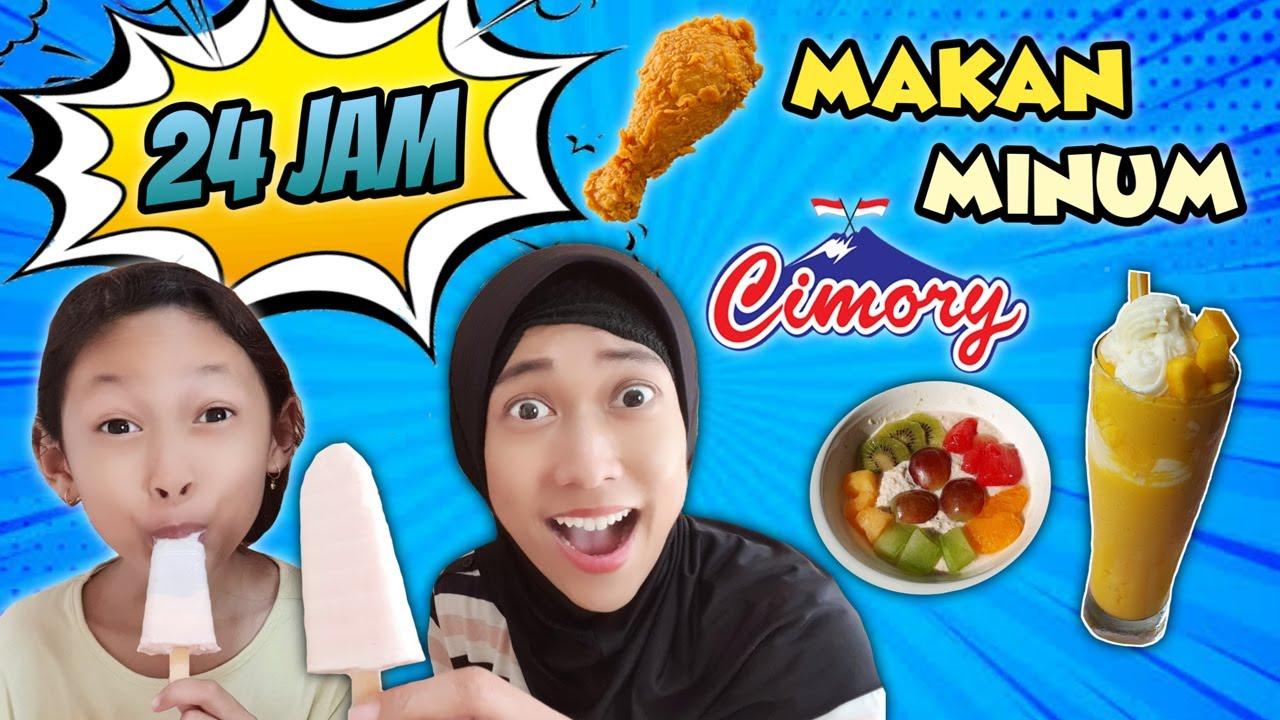 24 Jam Makan Minum Serba Cimory Yogurt Squeeze ♥ Challenge Bunda dan Aqilla | Aqilla's Diary