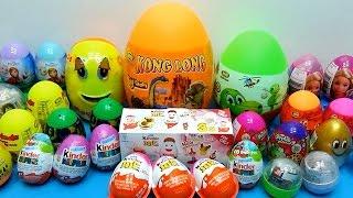 32 Surprise Kinder Surprise, Kinder Joy, Dinosaur, Frozen, Barbie! Bóc Trứng Bất Ngờ! WOB Kids!