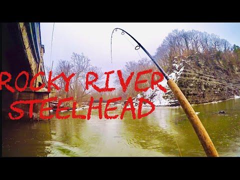 ROCKY RIVER Steelhead Fishing (Good Day)