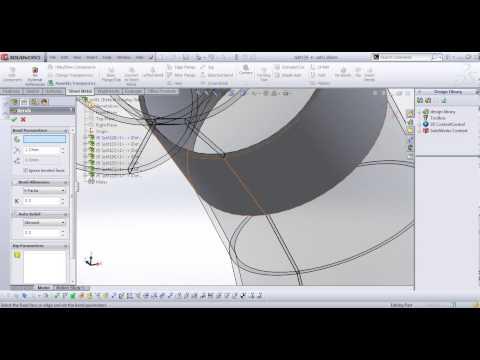 Advanced sheet metal in solidWorks APSC 171