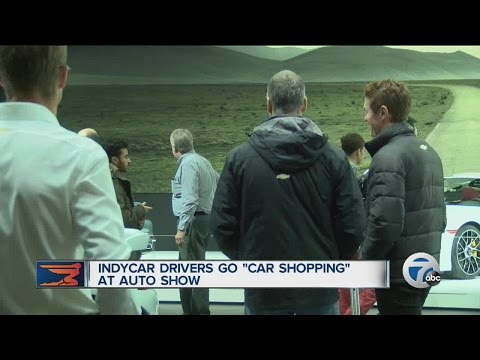 IndyCar drivers join the public in car-shopping at Auto Show