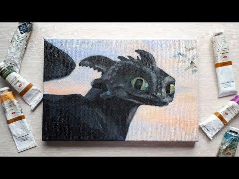 Speed Paint: Toothless (How To Train Your Dragons 3)/ Беззубик (Как приручить дракона 3)