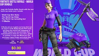 FORTNITE WORLD CUP SKIN PACK! FORTNITE WORLD CUP SKINS, GLIDER & PICKAXE! (WORLD CUP SKIN BUNDLE)