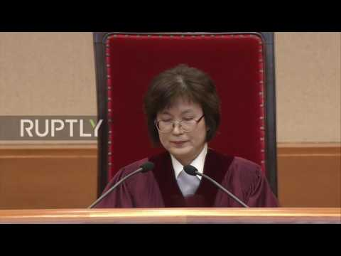 South Korea: President Park officially expelled from office
