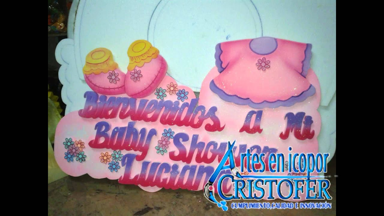 Decoraci³n Baby Shower En Icopor Avisos Cajas De Regalo