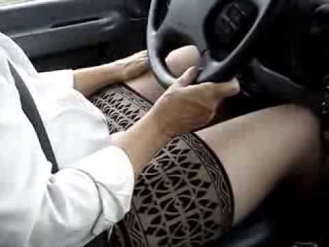Driving In Mini Skirt