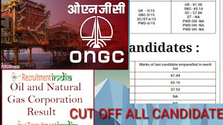 Ongc cut off/merit list for all apprentice candidate.!!The prithwiraj.