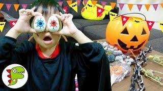 レオくんがハロウィンのお菓子を開けてみるよ♫ チャンネル登録♥Subscrib...