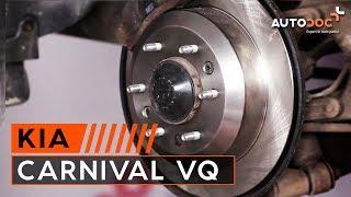 Montering Bremseklosser bak og foran KIA CARNIVAL / GRAND CARNIVAL III (VQ): gratis video