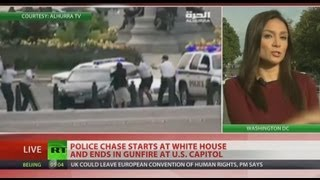 Shots fired on Capitol Hill after woman rams car into White House barrier