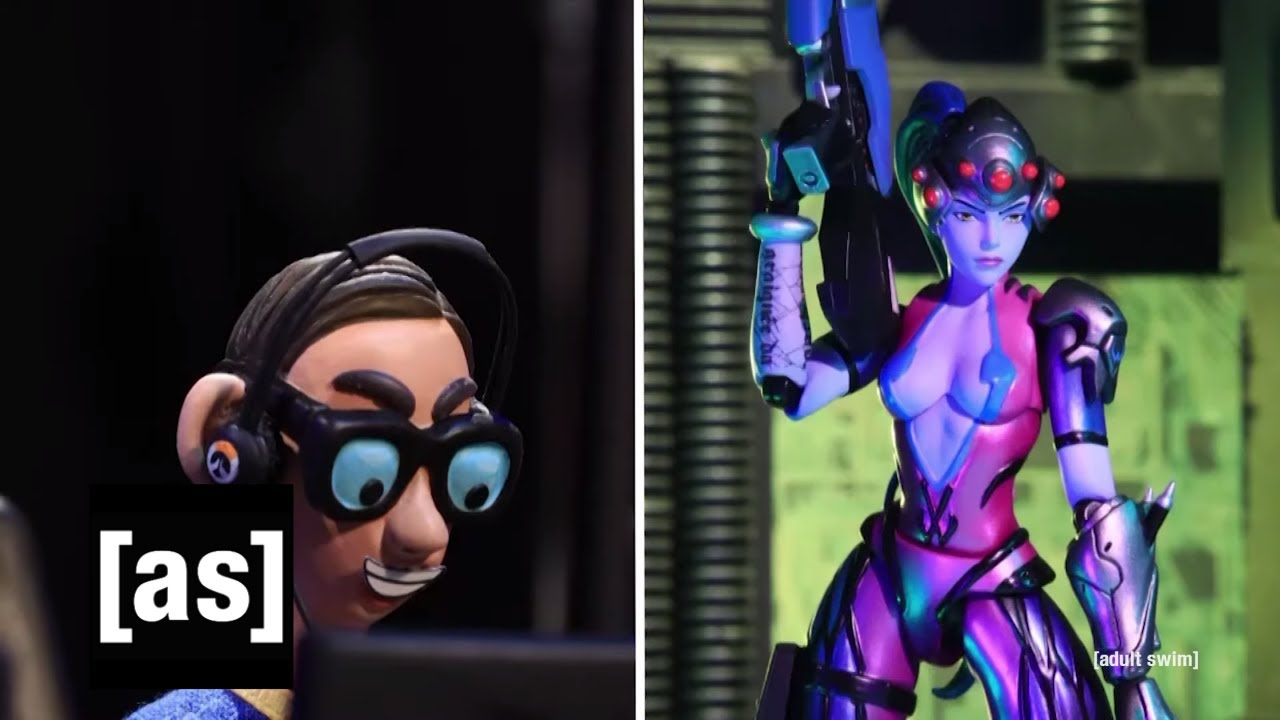 The Nerd Plays Overwatch | Robot Chicken | adult swim thumbnail